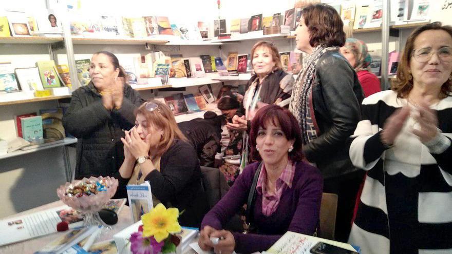 Stand de la Asociación de Mujeres Escritoras de Marruecos