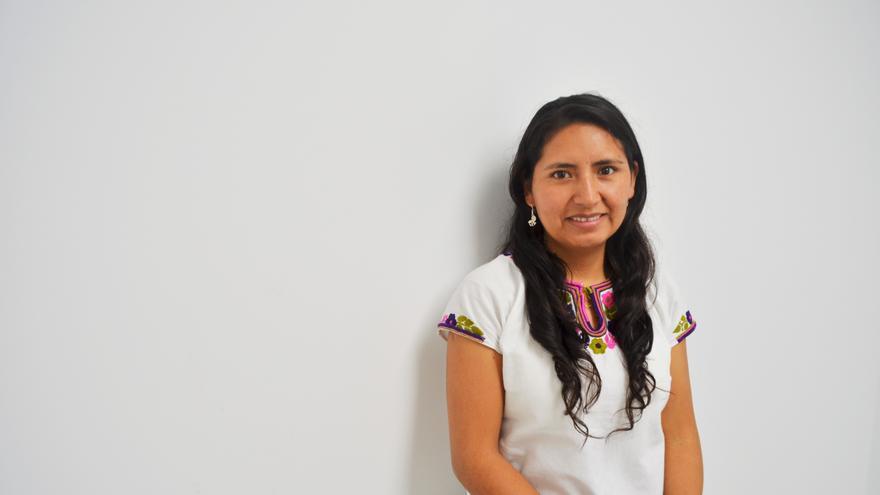 Tania Pariona, lider indígena y de los derechos de los niños y niñas trabajadoras de Latinoamérica y diputada del Frente Amplio de Perú