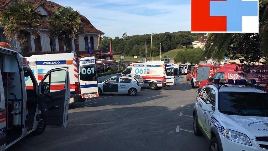 Valdecilla y Laredo atienden a 92 personas tras la fuga de gas en un hotel de Isla y cinco siguen en la UCI