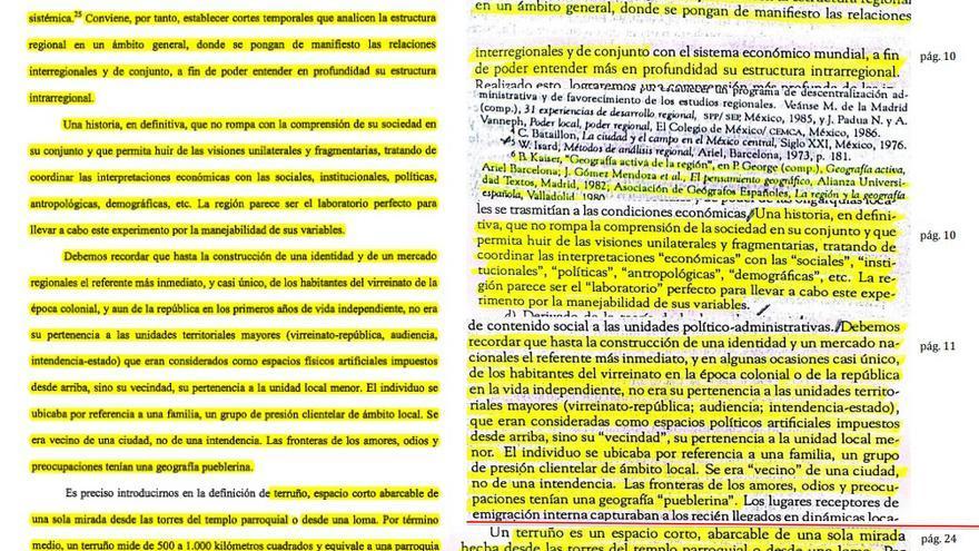 """Una de las """"evidencias"""" hechas llegar a la Hispalense por parte del director del Instituto Universitario de Investigación en Estudios Latinoamericanos"""