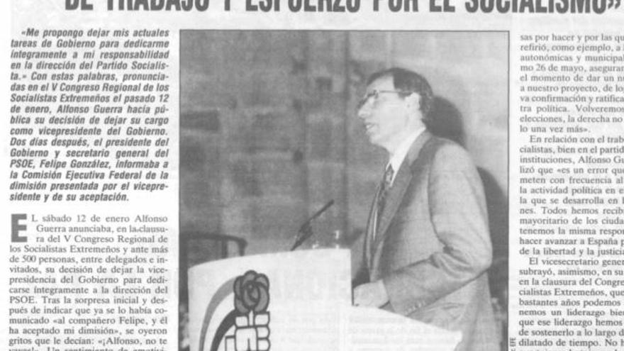 V Congreso PSOE Extremadura Alfonso Guerra Cáceres