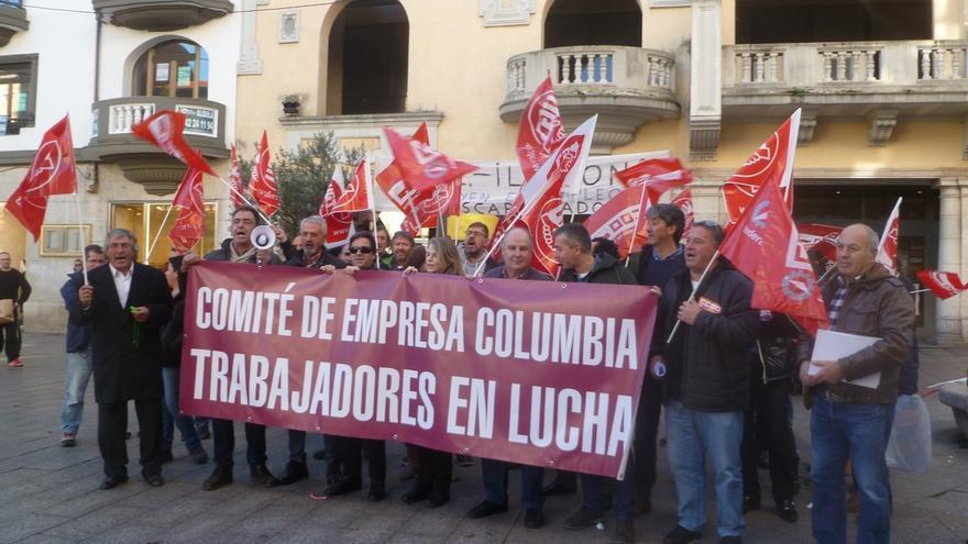 La huelga paraliza la actividad de la fábrica de Columbia Cintas de Impresión en Reinosa