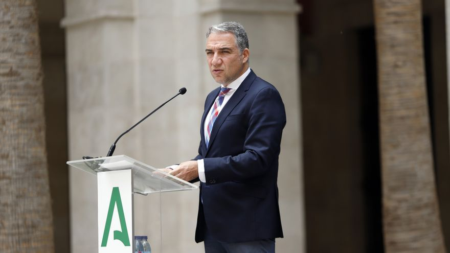 El consejero de la Presidencia, Administración Pública e Interior, Elías Bendodo