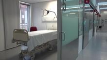 Camas UCI vacías en el Complejo Hospitalario de Navarra