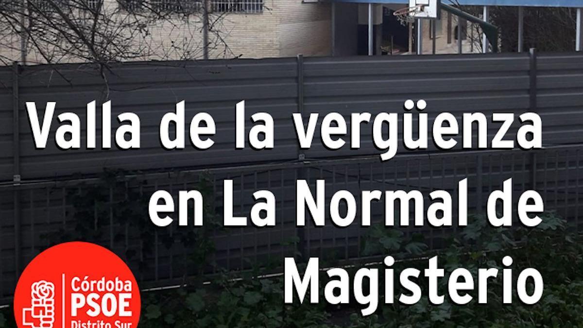Carteles de la campaña del PSOE sobre La Normal.
