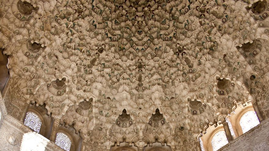 Yeserías en la Sala de los Abencerrajes, en la Alhambra.