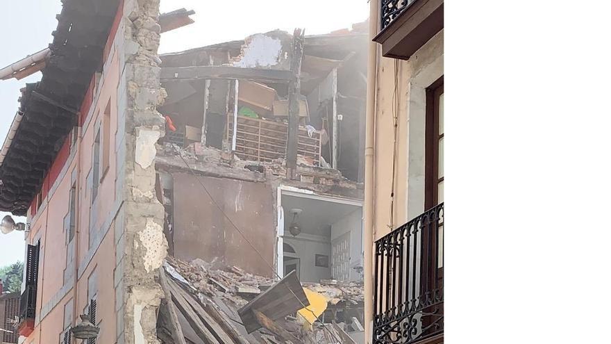 Un dron evaluará desde el aire los daños estructurales del edificio derrumbado en Elgoibar