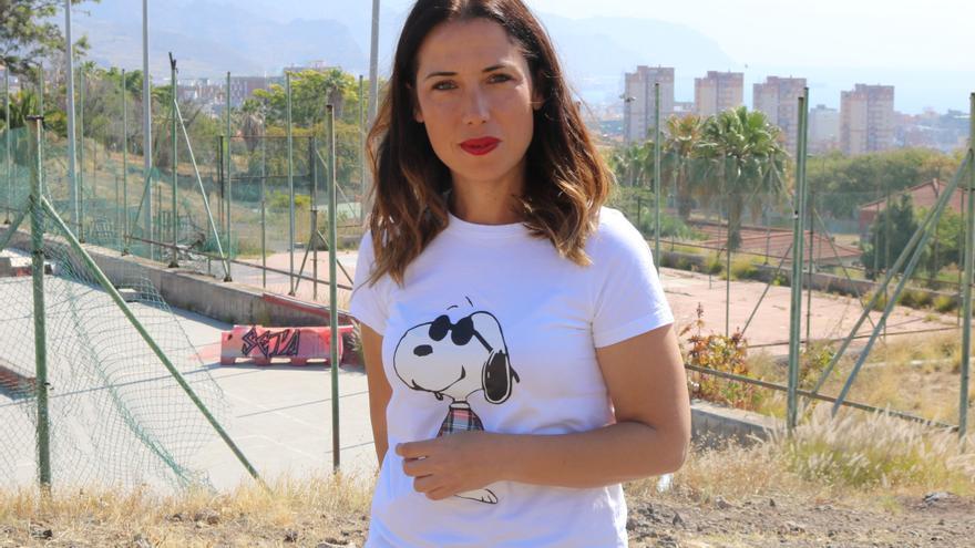Patricia Hernández, en una imagen de una de sus acciones de campaña electoral
