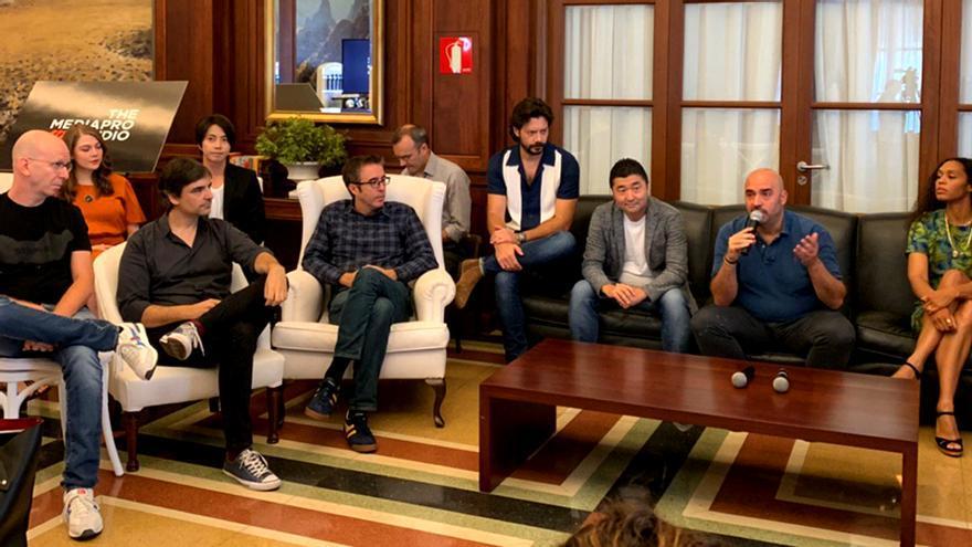 Imagen de la rueda de prensa de 'The Head' en Tenerife