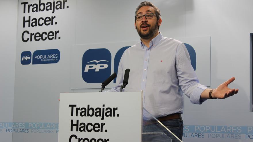 El portavoz regional del PP murciano, Víctor Martínez / PSS