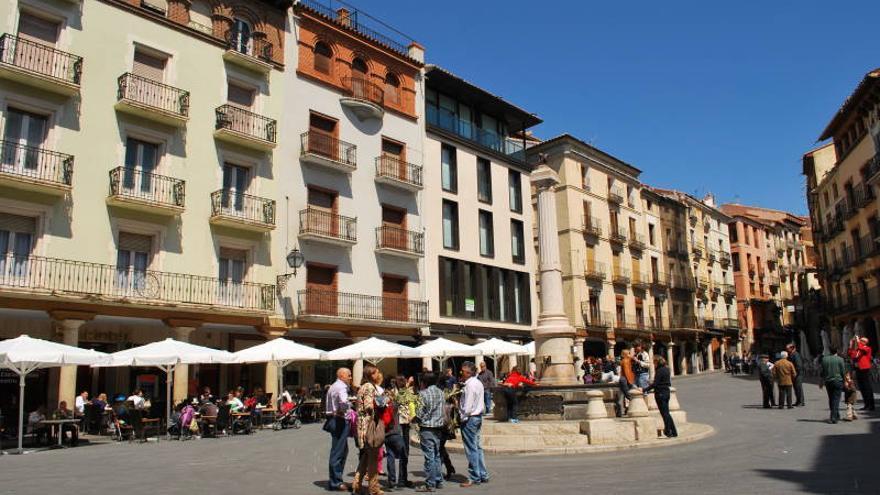 La Plaza del Torico, corazón urbano de Teruel. Diego Tirira