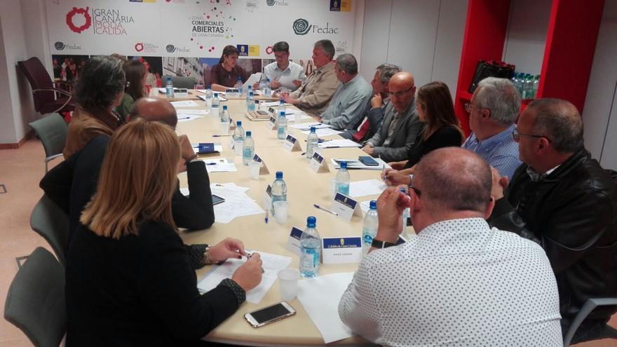 Reunión de la Mesa de Comercio de Gran Canaria.