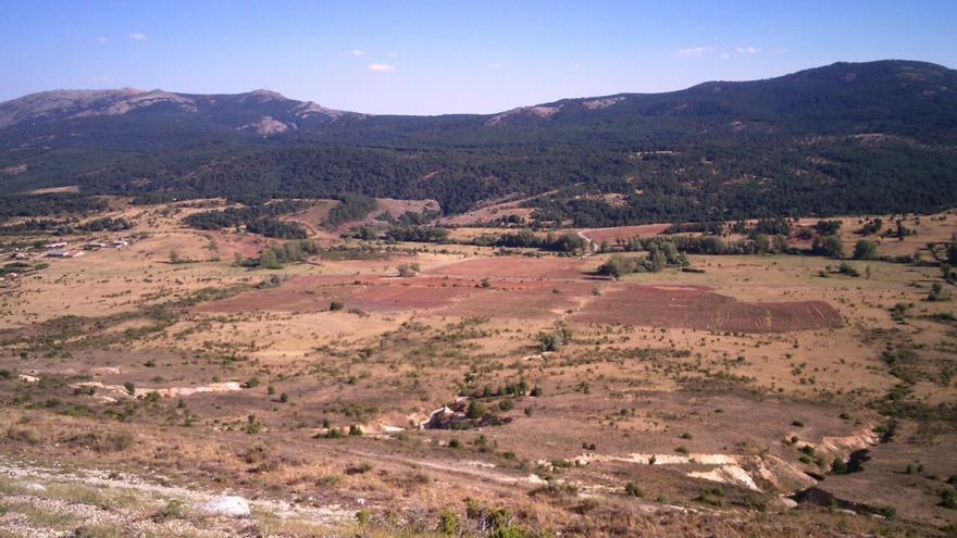 Marcas de roturaciones en la sierra norte de Guadalajara / Foto: Ecologistas en Acción
