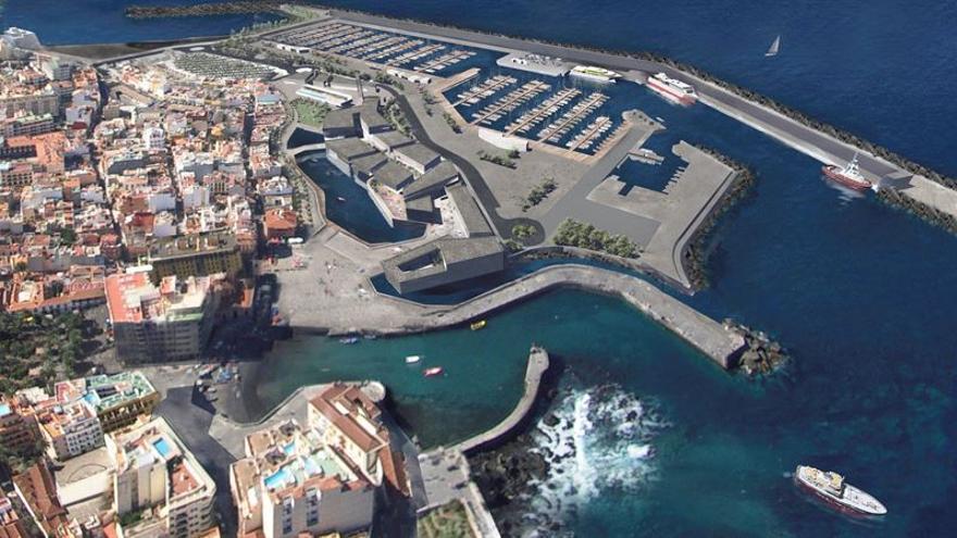 Infografía del futuro puerto de la ciudad norteña