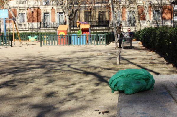 Excrementos caninos en la Plaza de la Villa de París | Fotografía: Somos Chueca