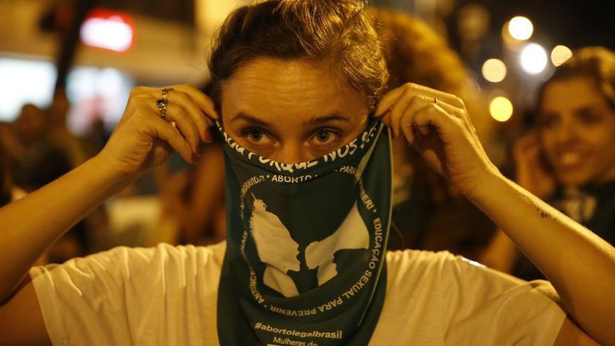 Manifestación en Río de Janeiro a favor del aborto.