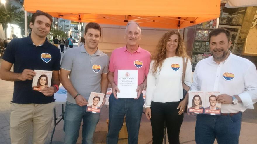 En el centro el candidato de Ciudadanos, Jesús Tejada.