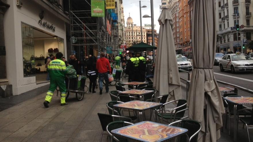 Tercer día de la huelga indefinida de operarios de limpieza viaria en Madrid.