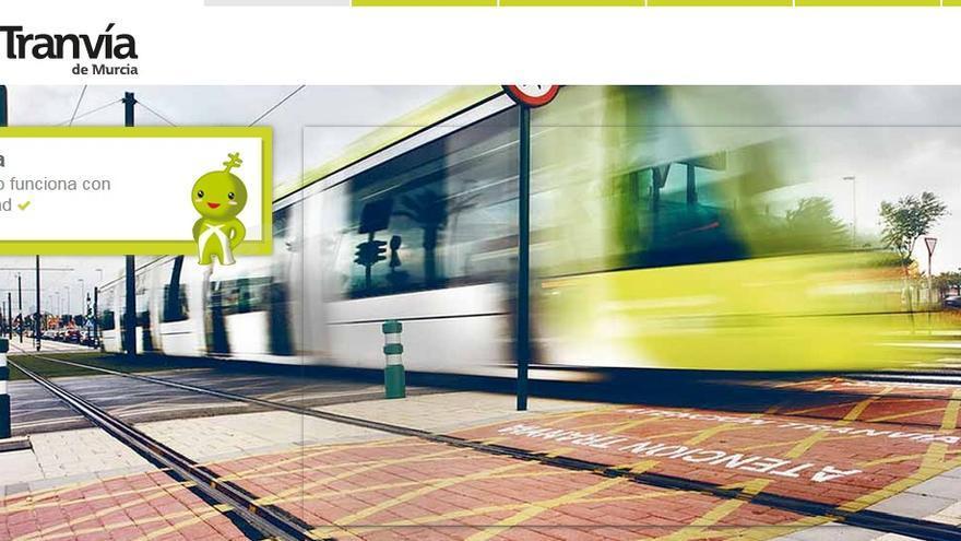 Imagen de la Web de Tranvía de Murcia