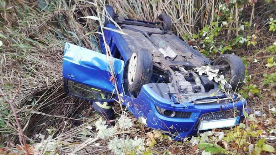 En la imagen, estado en que quedó el vehículo.
