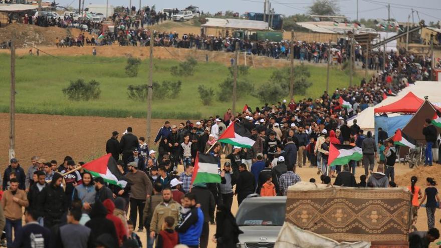 Una de las Marchas del Retorno que vienen sucediendo todos los viernes desde el 30 de marzo.