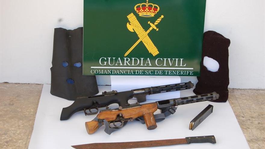 Armas requisadas por la Guardia Civil en la 'operación Naranjero'