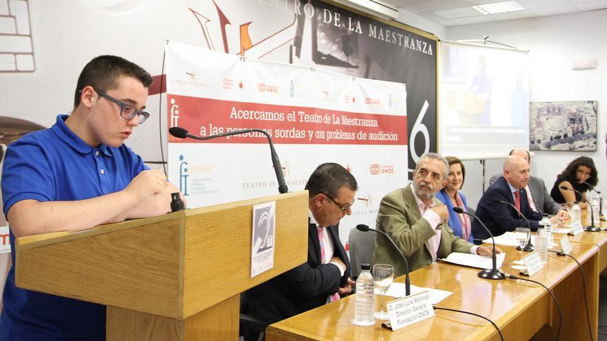 Rueda de prensa de la presentación del sistema de apoyo a la audición del Teatro de la Maestranza /Foto: FIAPAS