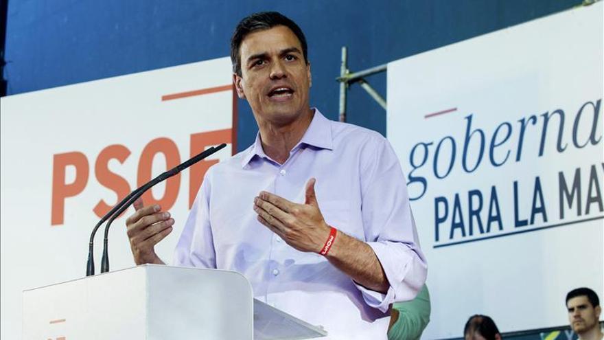 """Sánchez afirma que """"el voto al PP, asediado por la corrupción, es un voto resignado"""""""