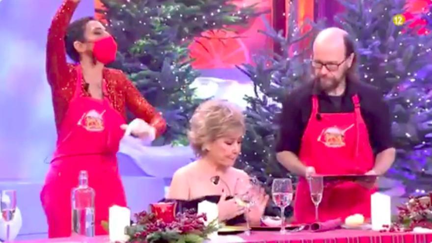 Paz Padilla y Santiago Segura, en 'La última cena' especial de Nochebuena