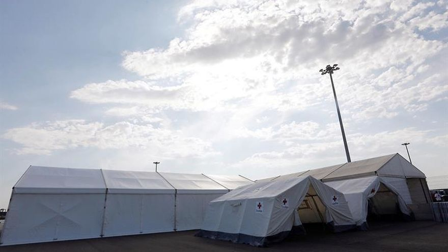 La Cruz Roja instala un albergue con capacidad para 350 personas