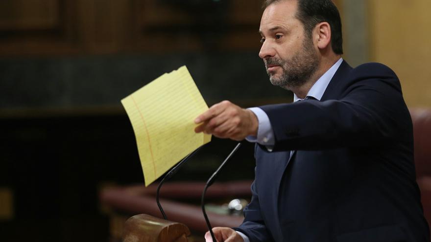 José Luis Ábalos, portavoz del PSOE en el Congreso, durante la moción de censura a Rajoy.