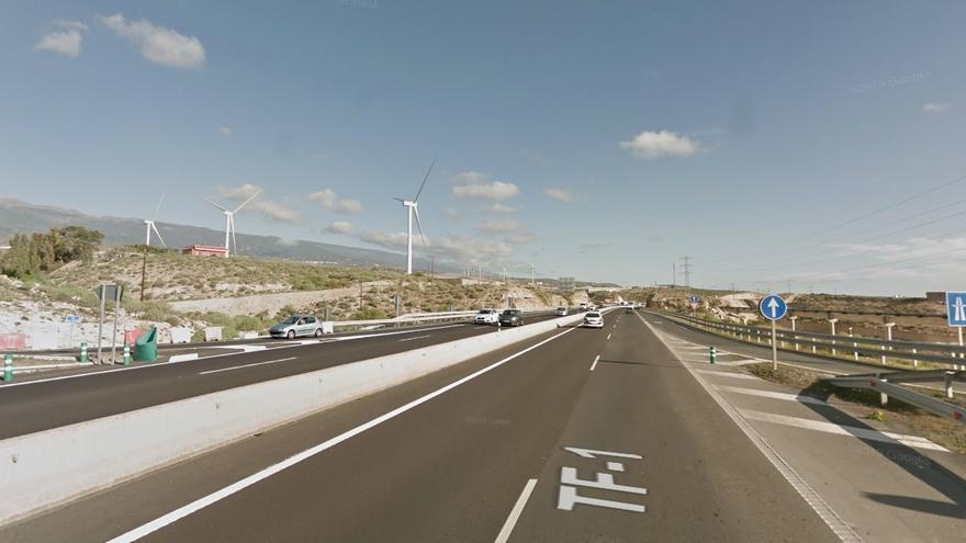 Autopista TF-1, a su paso por Granadilla de Abona