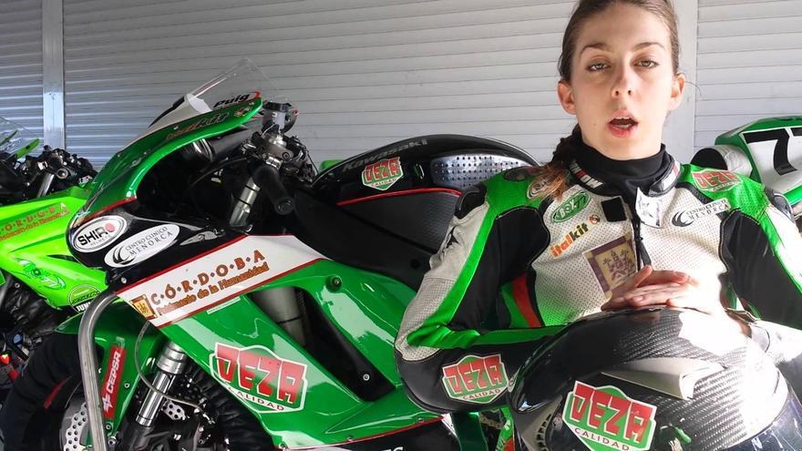 Andrea Sibaja, la piloto cordobesa que se estrenará en el Mundial de superbikes
