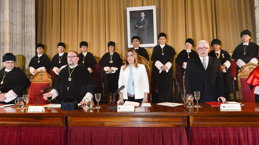 Susana Díaz en la inauguración del curso universitario 2014-2015.