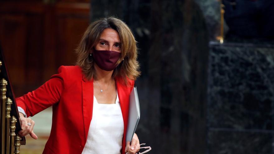 La ministra para la Transición Ecológica, Teresa Ribera en el Congreso. EFE/ Javier Lizón/Archivo