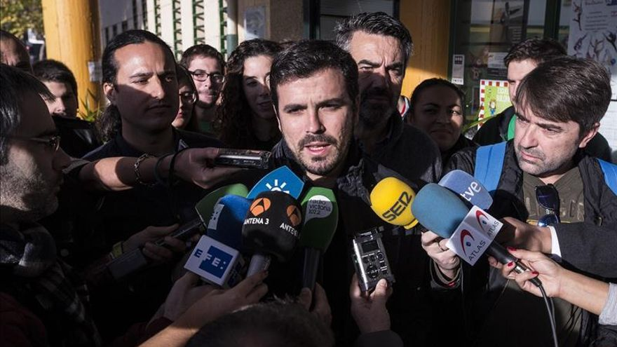 Sede de IU, lista para seguir el recuento de votos, a la espera de Garzón