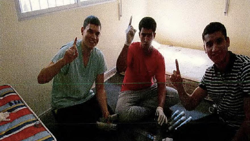 Tres integrantes de la célula terrorista.
