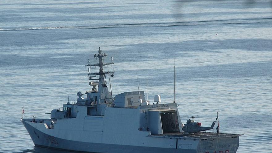 El barco 'Cigala Fulgosi', de la Marina Italiana.