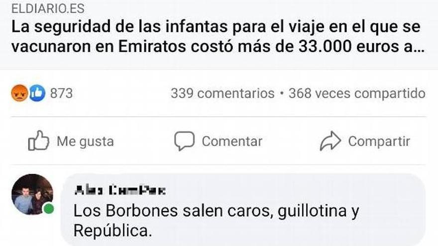 Comentario en Facebook de Alejandro Campillo.