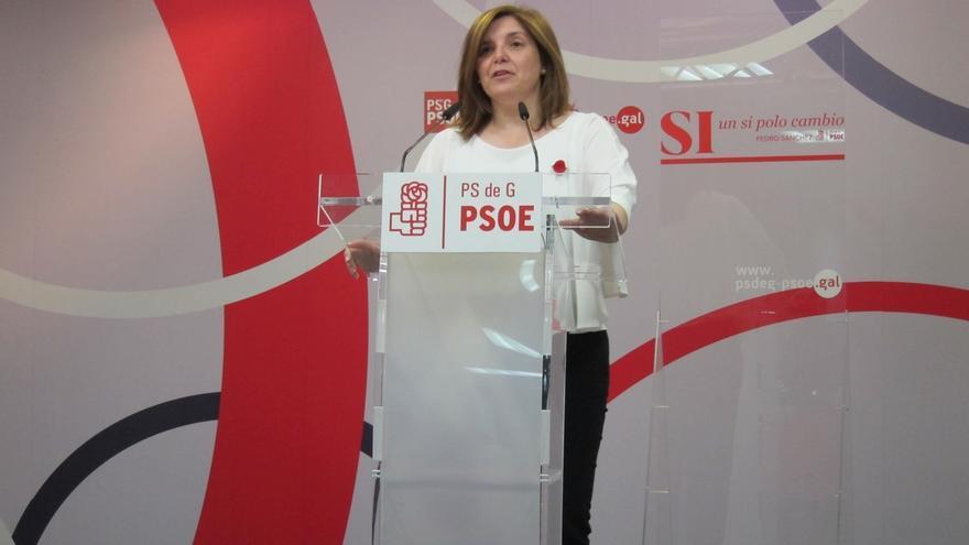 """La presidenta de la gestora del PSdeG abogará ante Sánchez por un """"no"""" a Rajoy """"contundente"""" y no se fía de Podemos"""