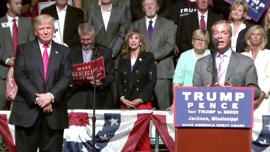 Captura mitin Trump y Farage