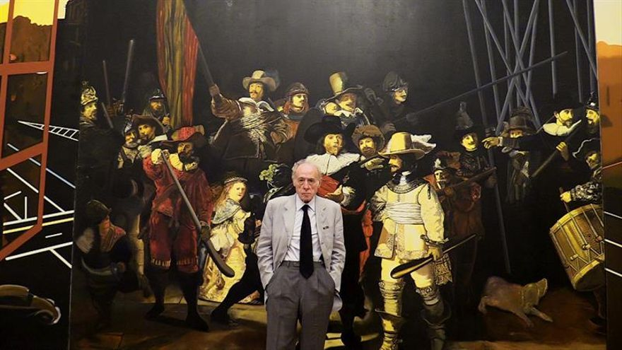 Eduardo Arroyo repasa en Francia medio siglo de arte, entre ironía y absurdo