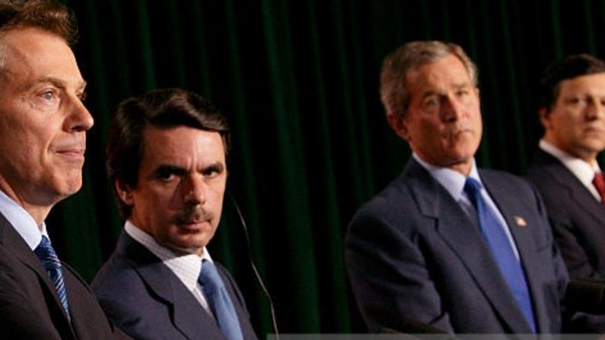 Tony Blair, José María Aznar, George Bush y el cuarto de las Azores: José Manuel Durao Barroso