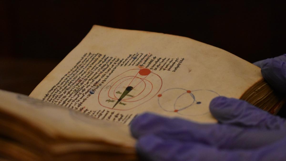 Documento sobre astronomía del Archivo Capitular de Toledo