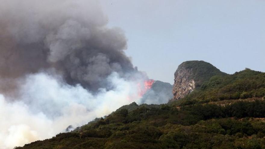 El fuego hace estragos en la isla de La Palma.