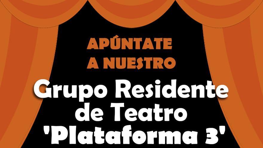 Arrancan los cursos de formación en el Grupo de Teatro Residente en 'Plataforma 3'