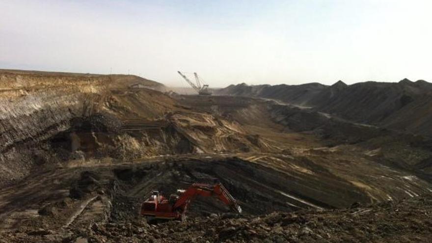 Mina de carbón al aire libre en EEUU