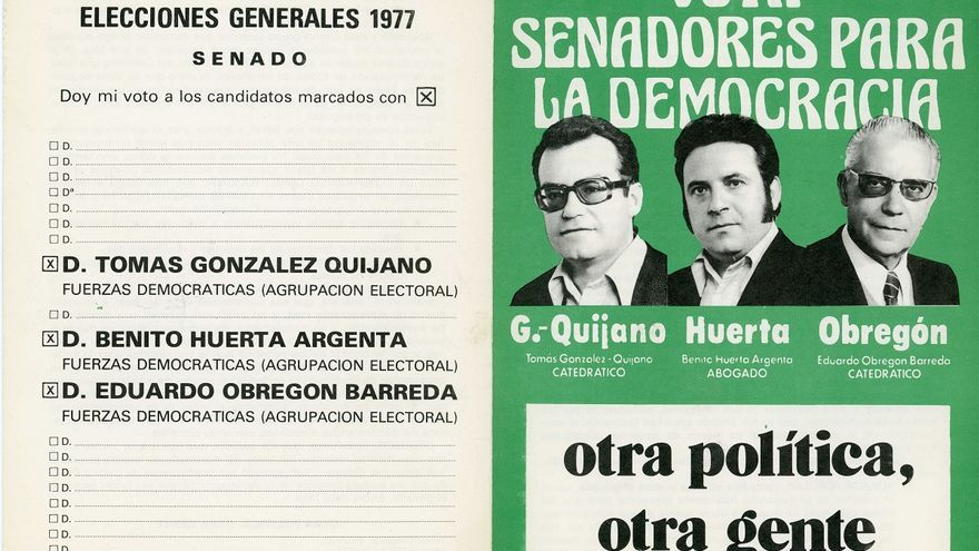 Cartel de Senadores para la Democracia de 1977.