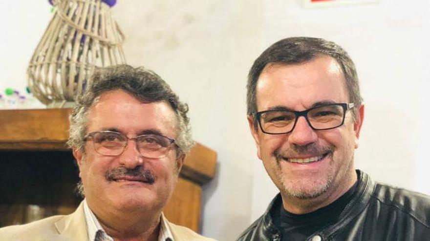 Primitivo Jerónimo (i) y  Laureano Márquez.