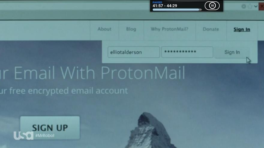 El servicio de correo electrónico que aparece en 'Mr. Robot' tiene su sede en Suiza